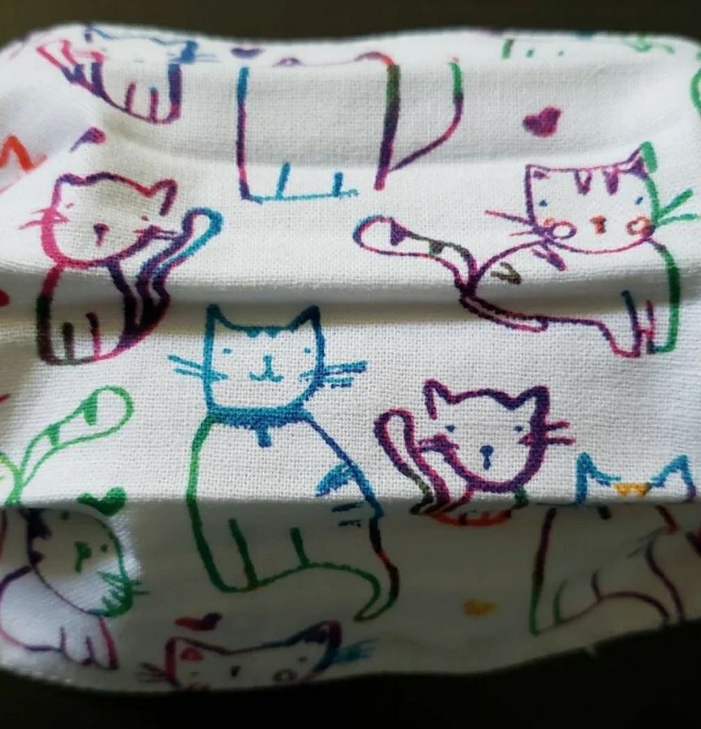 TODDLER KIDS LINED MASK KITTIES CATS