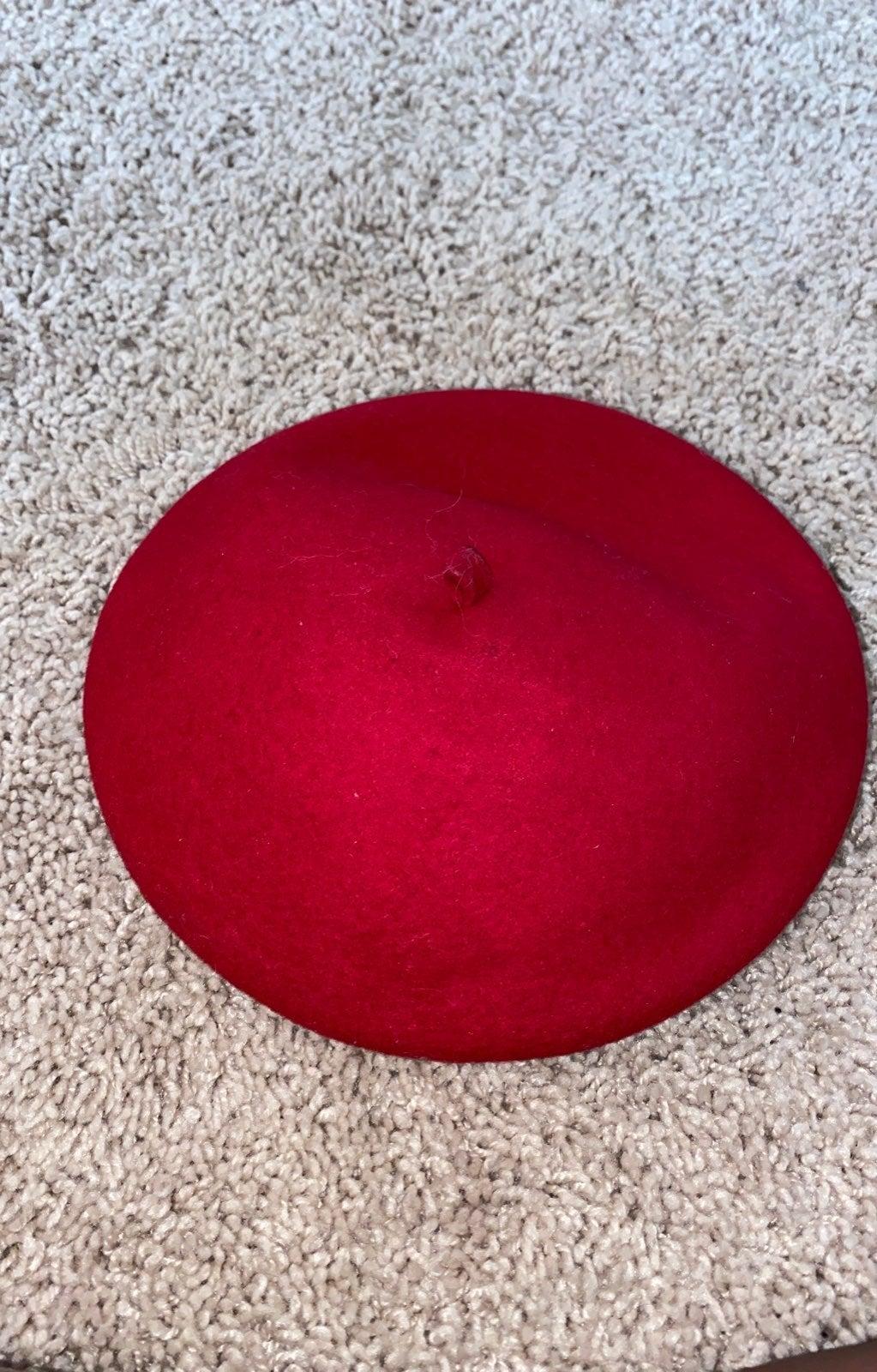 Red betet toddler hat