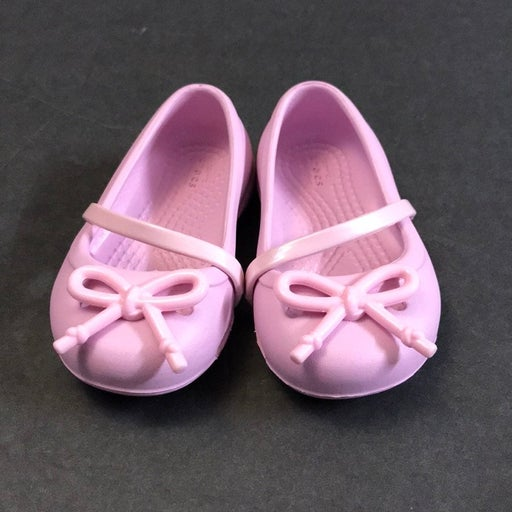 Like new baby pink crocs with a bow 5