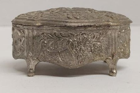 Small Vintage Metal Trinket Box