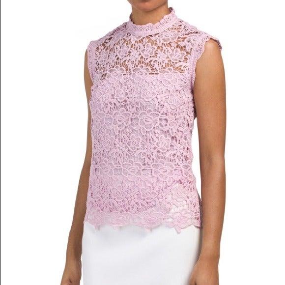 Nanette Lepore high neck sleeveless lace