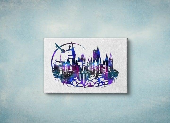 Hogwarts 8x10 Galaxy Wall Art