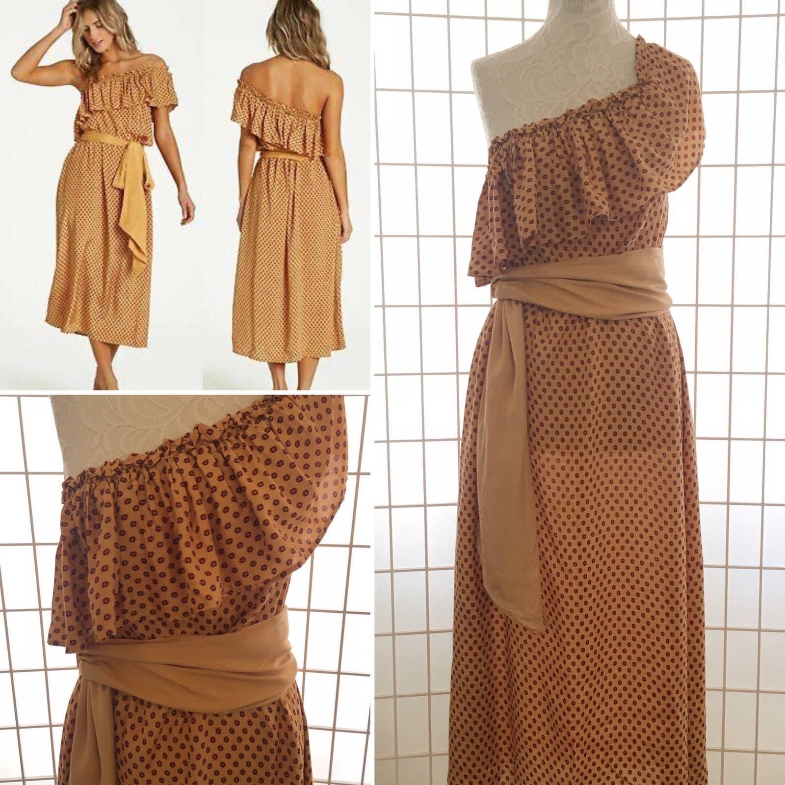 Billabong NWT Midi Boho Ruffle Dress