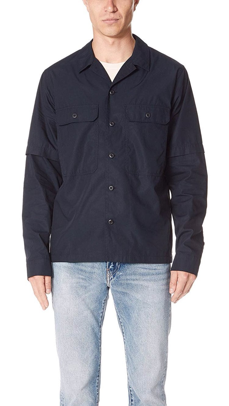 Vince Regular Fit Shirt Jacket Sz XL
