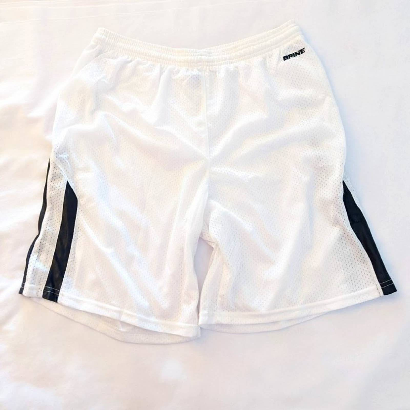 Brine Men's Lacrosse Shorts White XL