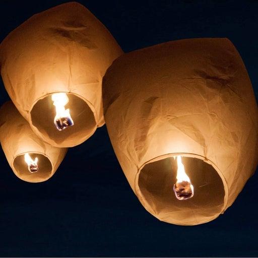 4 Pack Wish Sky Lanterns Paper Ceremony
