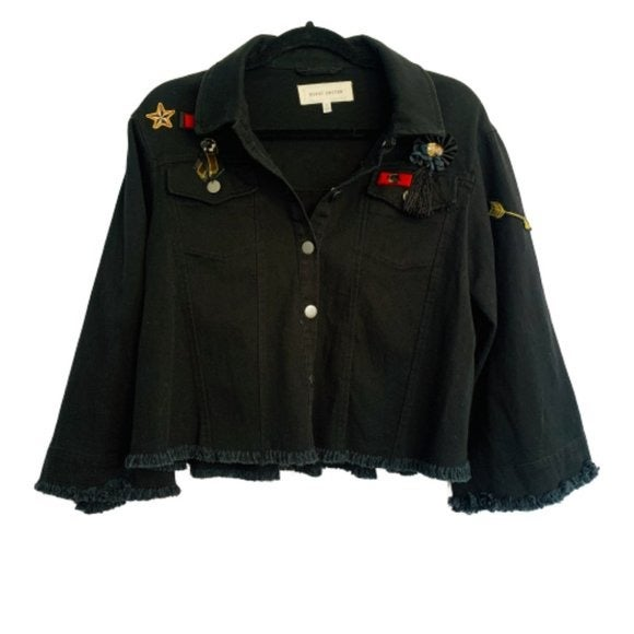 Guest Editor Military Bell Sleeve Jacket