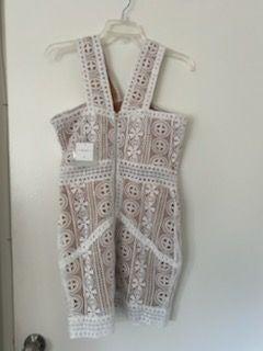 Missguided V Strap Lace Midi Dress