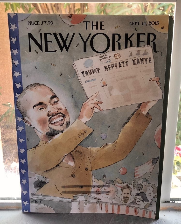 The New Yorker Kanye/Trump Mag 2015
