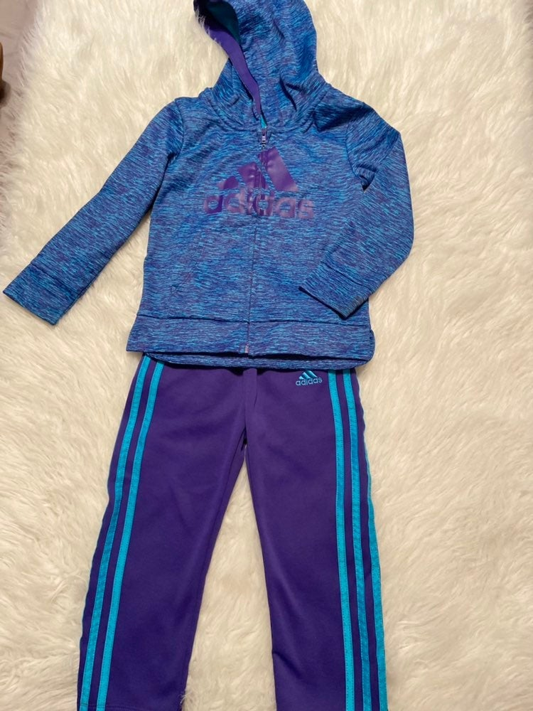 Little girls adidas track suit 4T