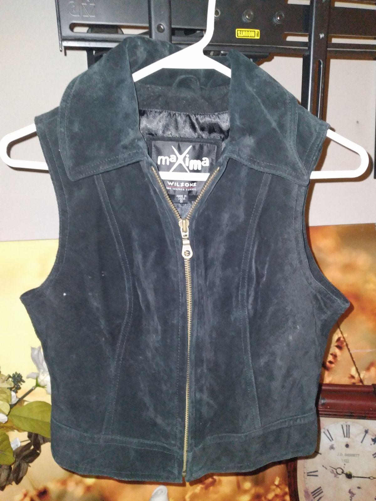 Wilson's maxima suede vest vintage