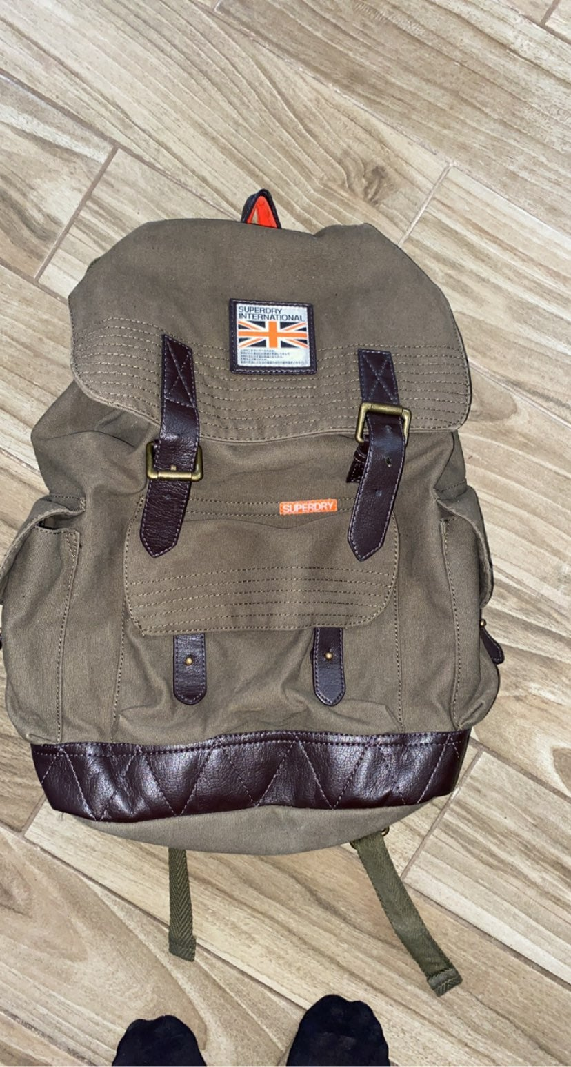 Superdry military style backpack