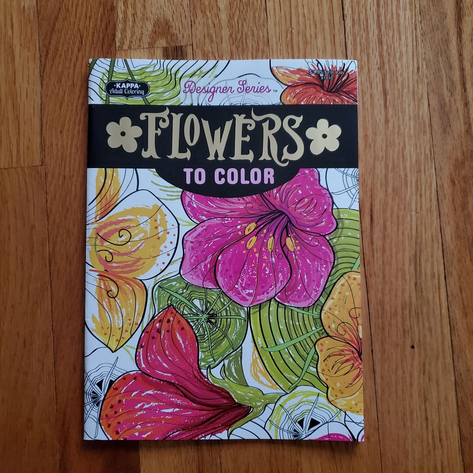 Adult Coloring Book FLOWERS / FLORAL
