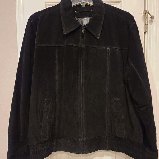 *Suede leather men's jacket XL