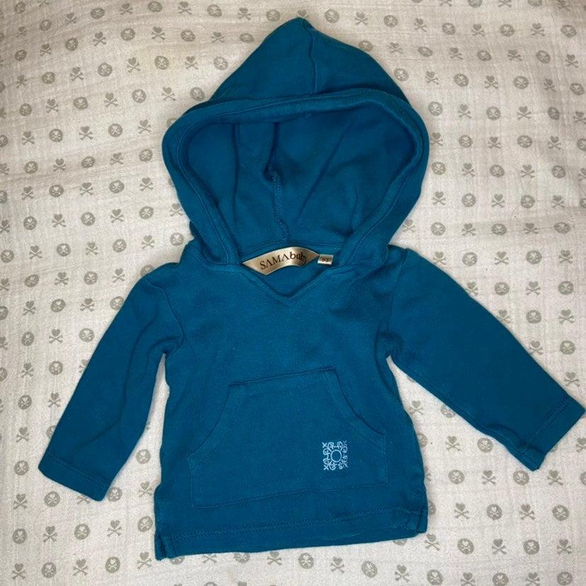 Baby Sama Blue Hoodie 0-3m