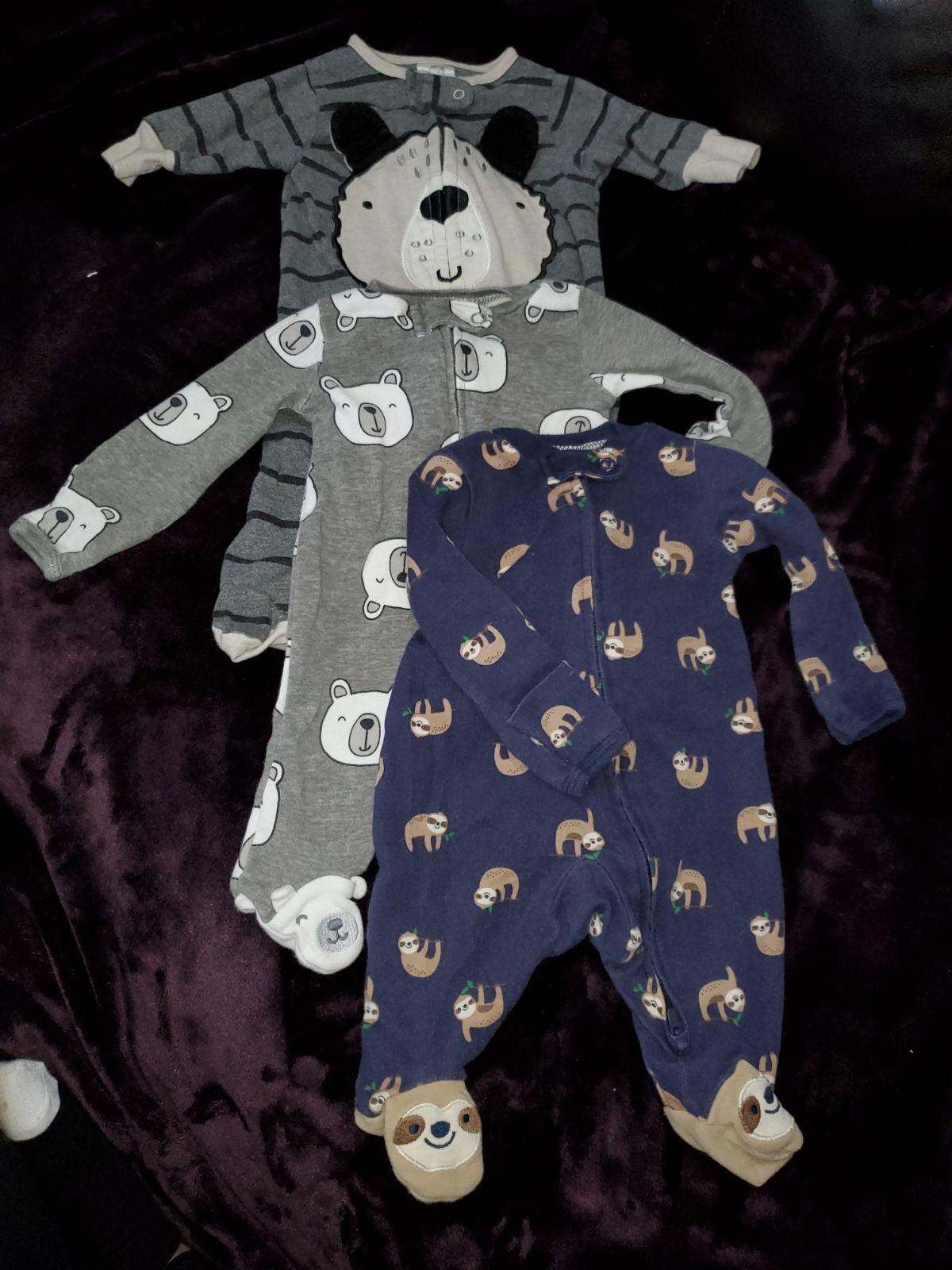Baby boy footed pajamas newborn