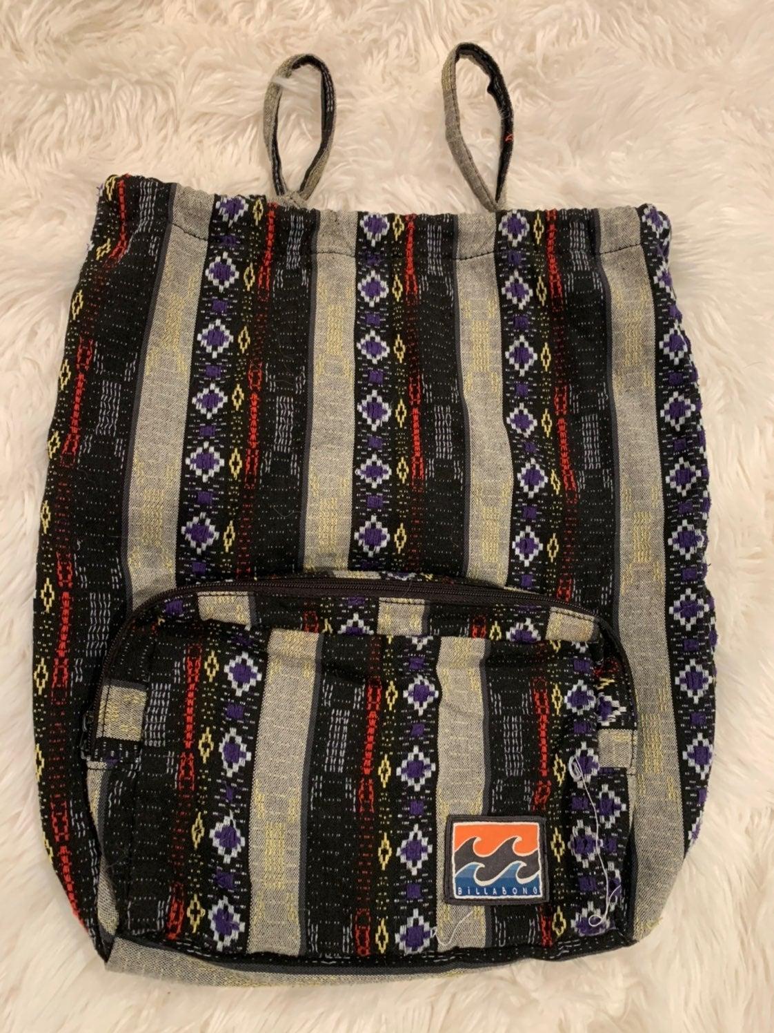 Billabong tribal stitch backpack used