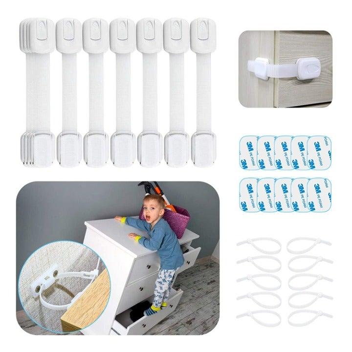 Cabinet Locks for Babies - 30 Pcs