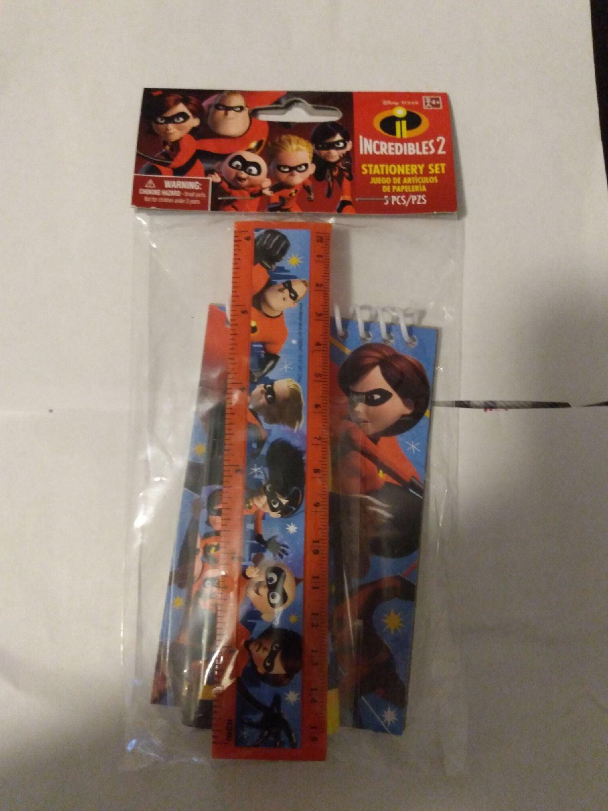NIP Incredibles 2 Stationery Set