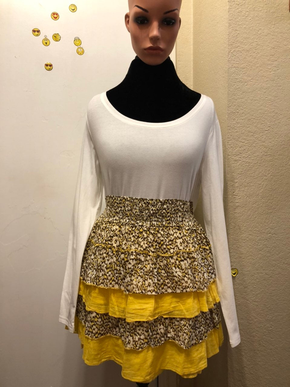 """New """" Lei"""" Yellow Western Cowgirl Skirt!"""