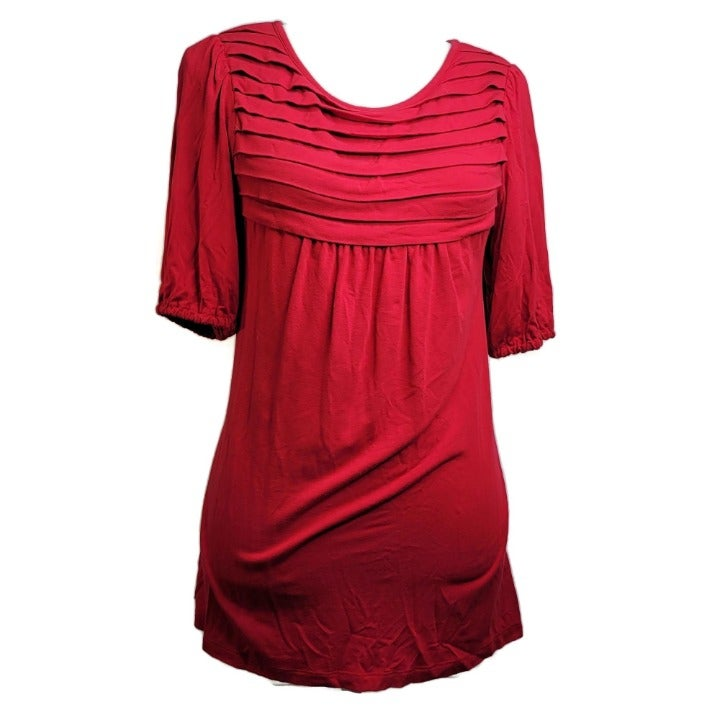 Style & Co Womans Top Size Small Red