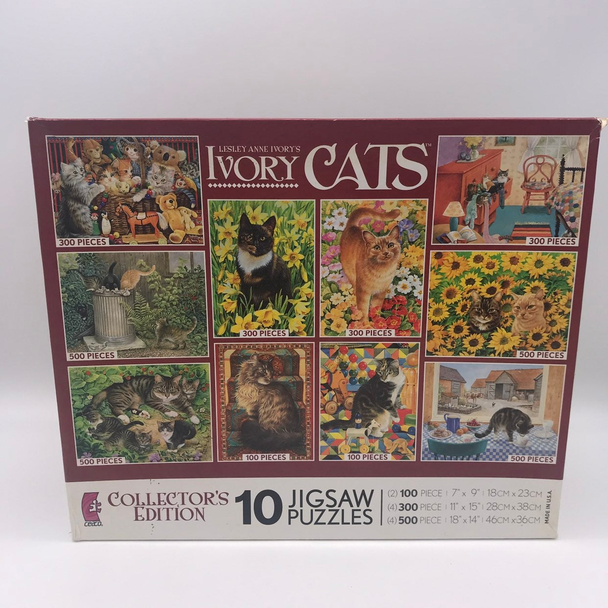 Leslie Anne Ivory Cat Puzzles NEW