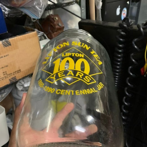 Vintage glass jar Lipton