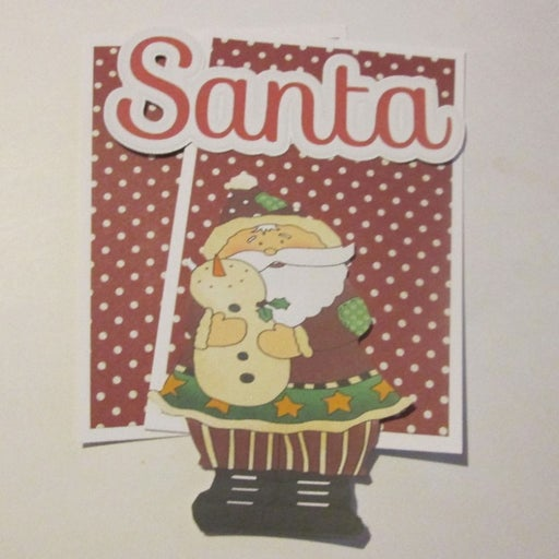 Santa b - Scrapbook or Card Set