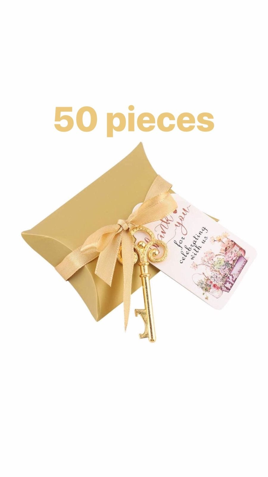 50 Gold Skeleton Key/Bottle Openers