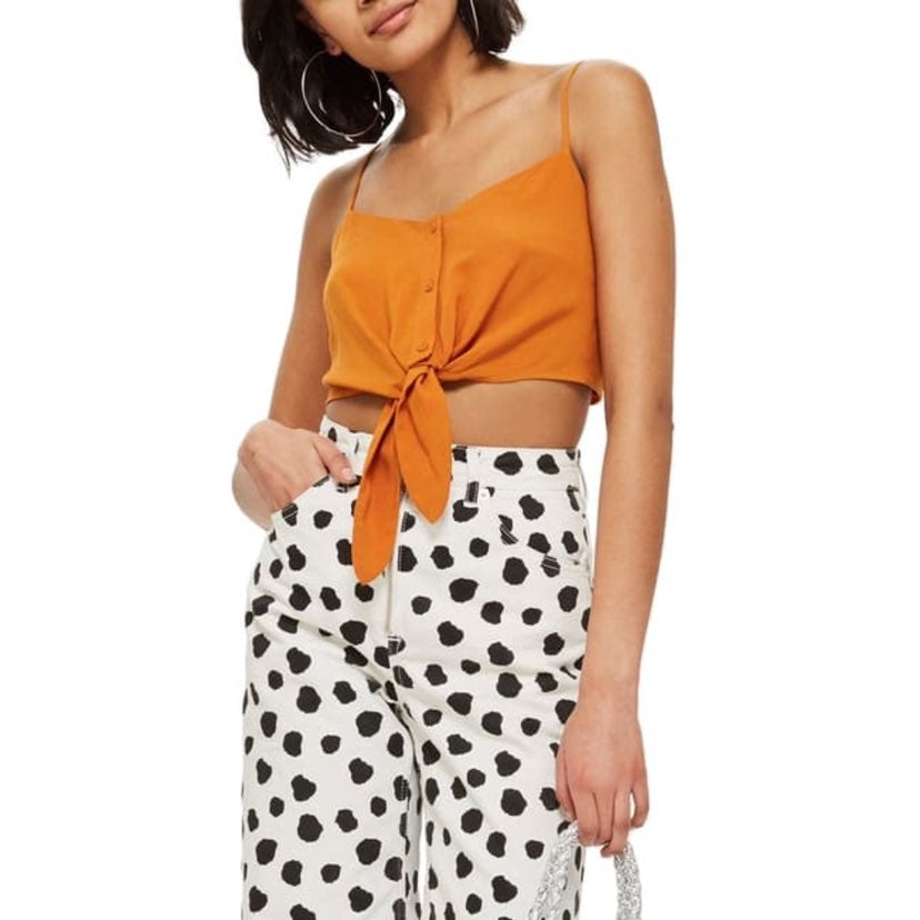 NEW Topshop | Knot Front Camisole Top S