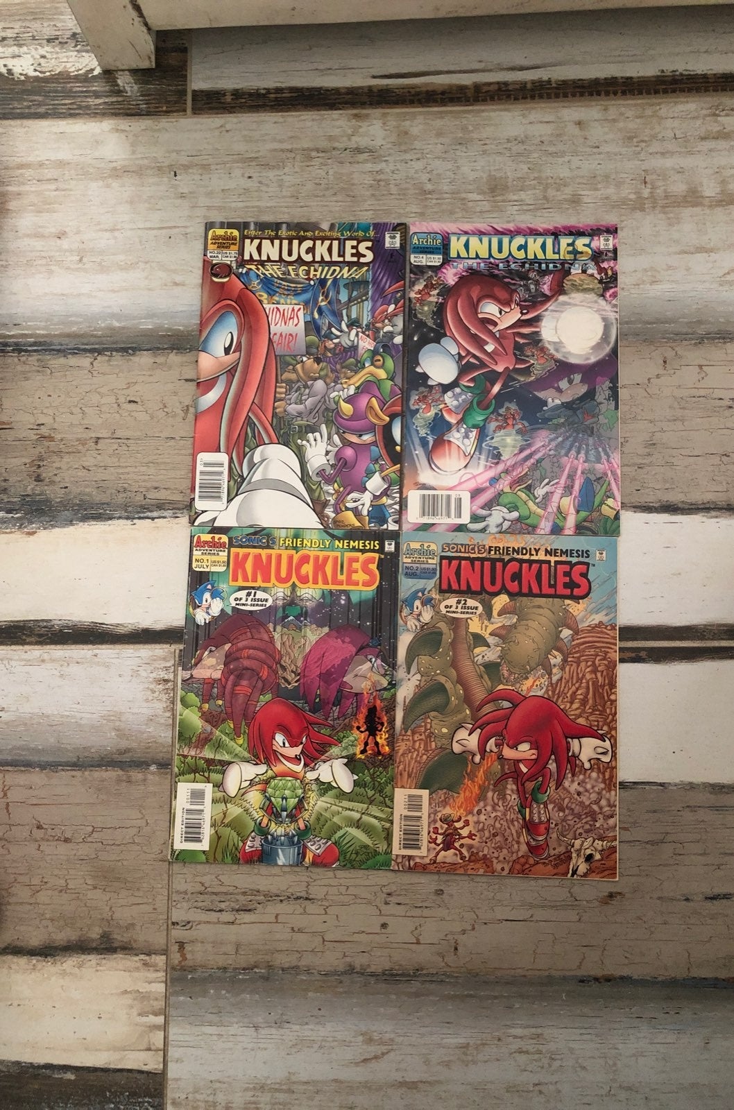 sonic the hedgehog knuckles comic lot of