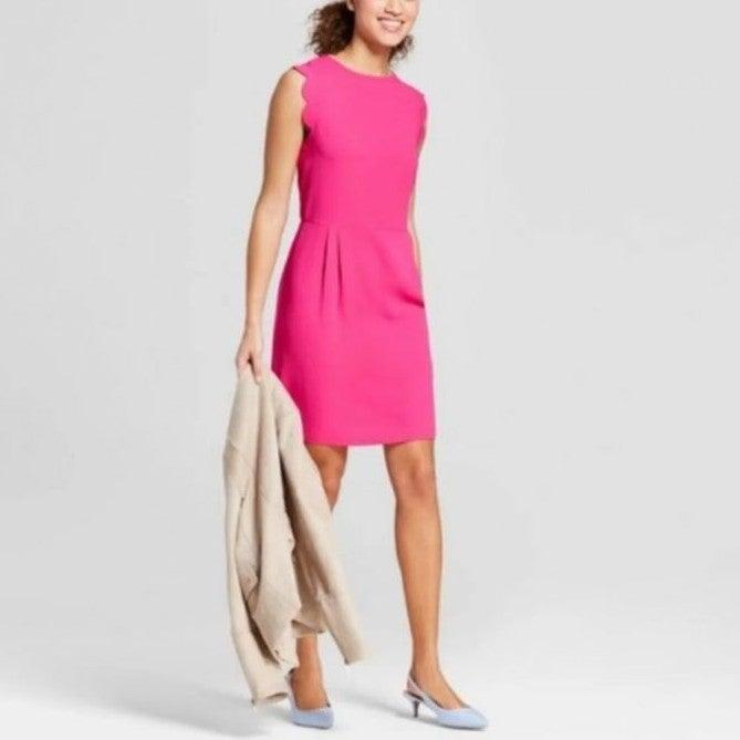 A New Day Pink Scalloped Dress