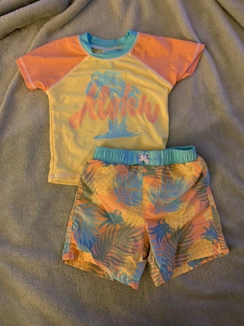 Boy swim suit set 18M