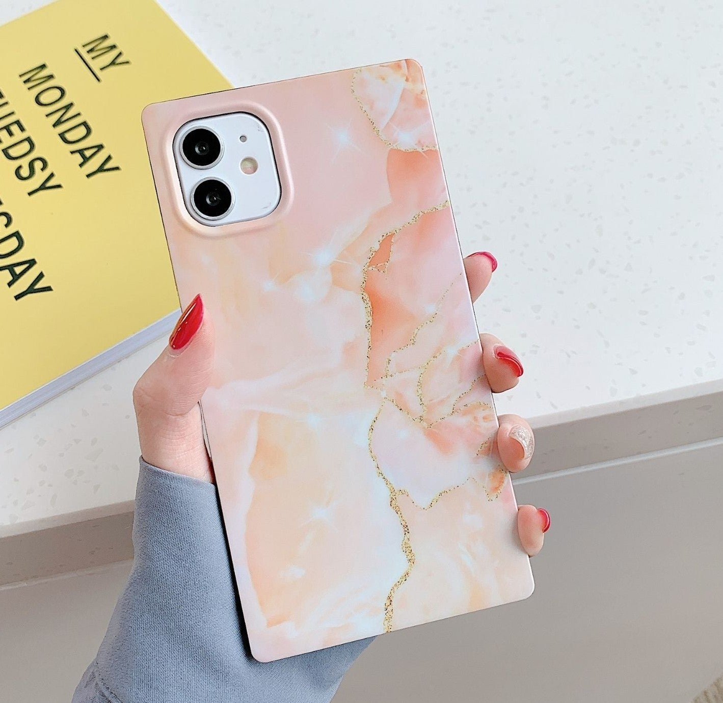 Iphone 12 Pro, 12 Case Marble Square