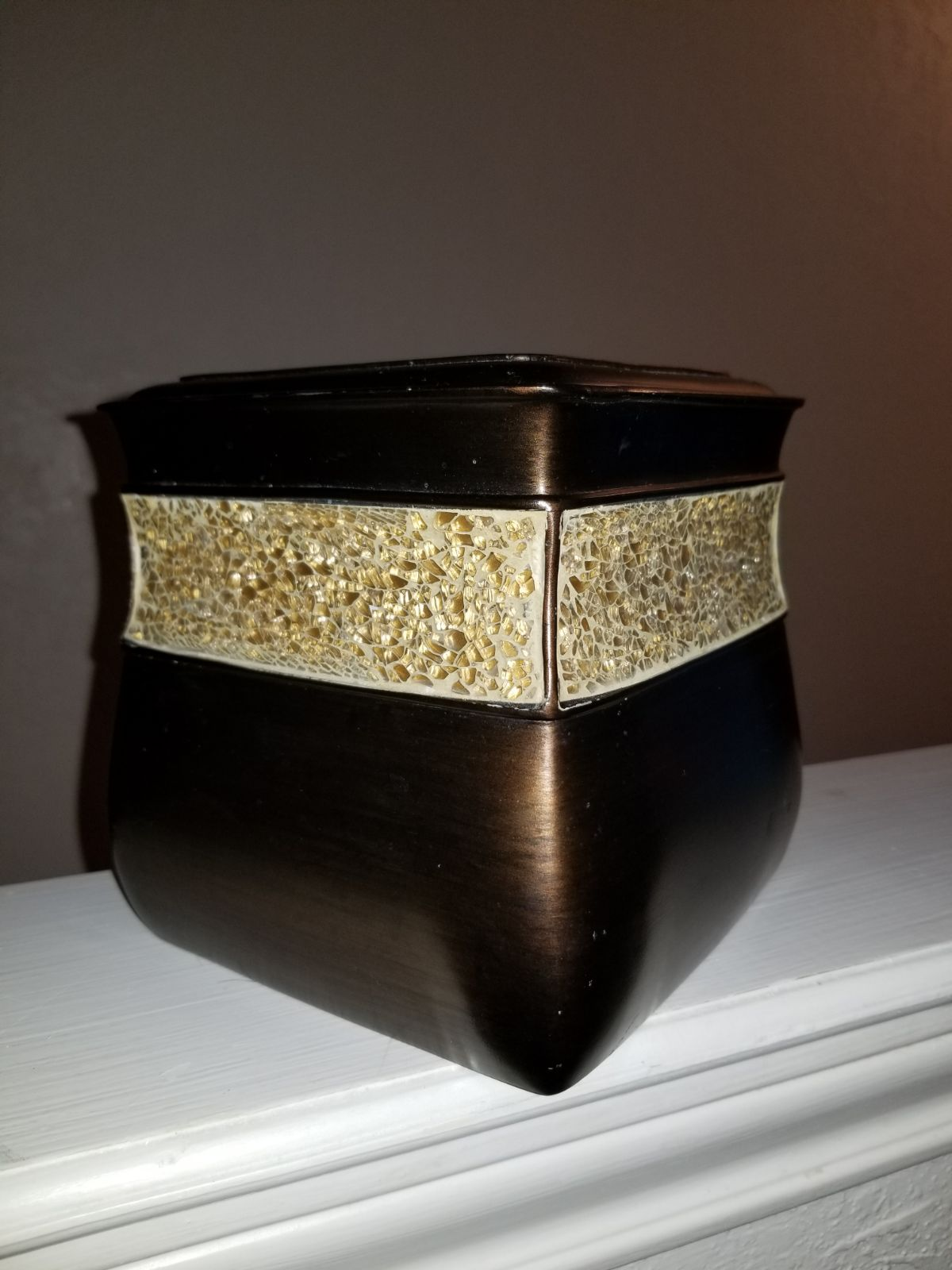 Brown and Gold Tissue Box Cover