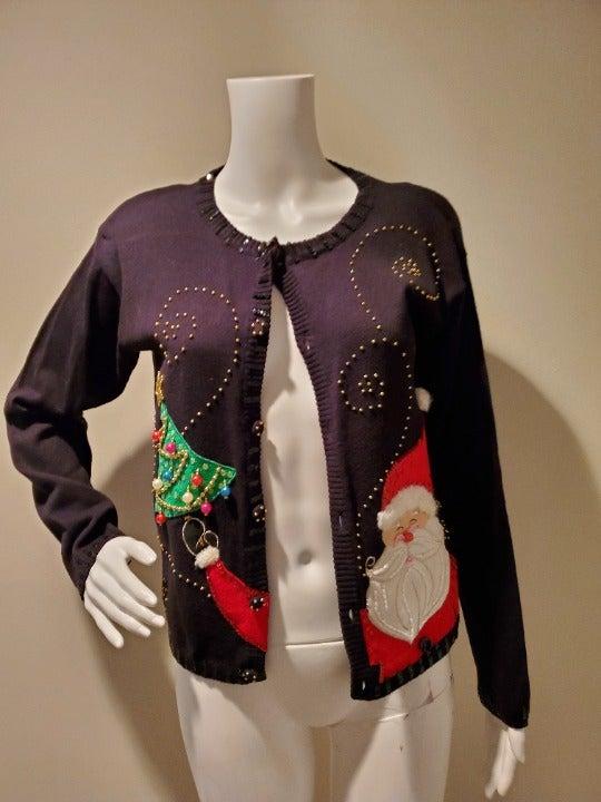 Vintage Berek Ugly Christmas Cardigan S