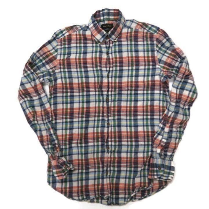 Massimo Dutti Plaid Linen Shirt Small