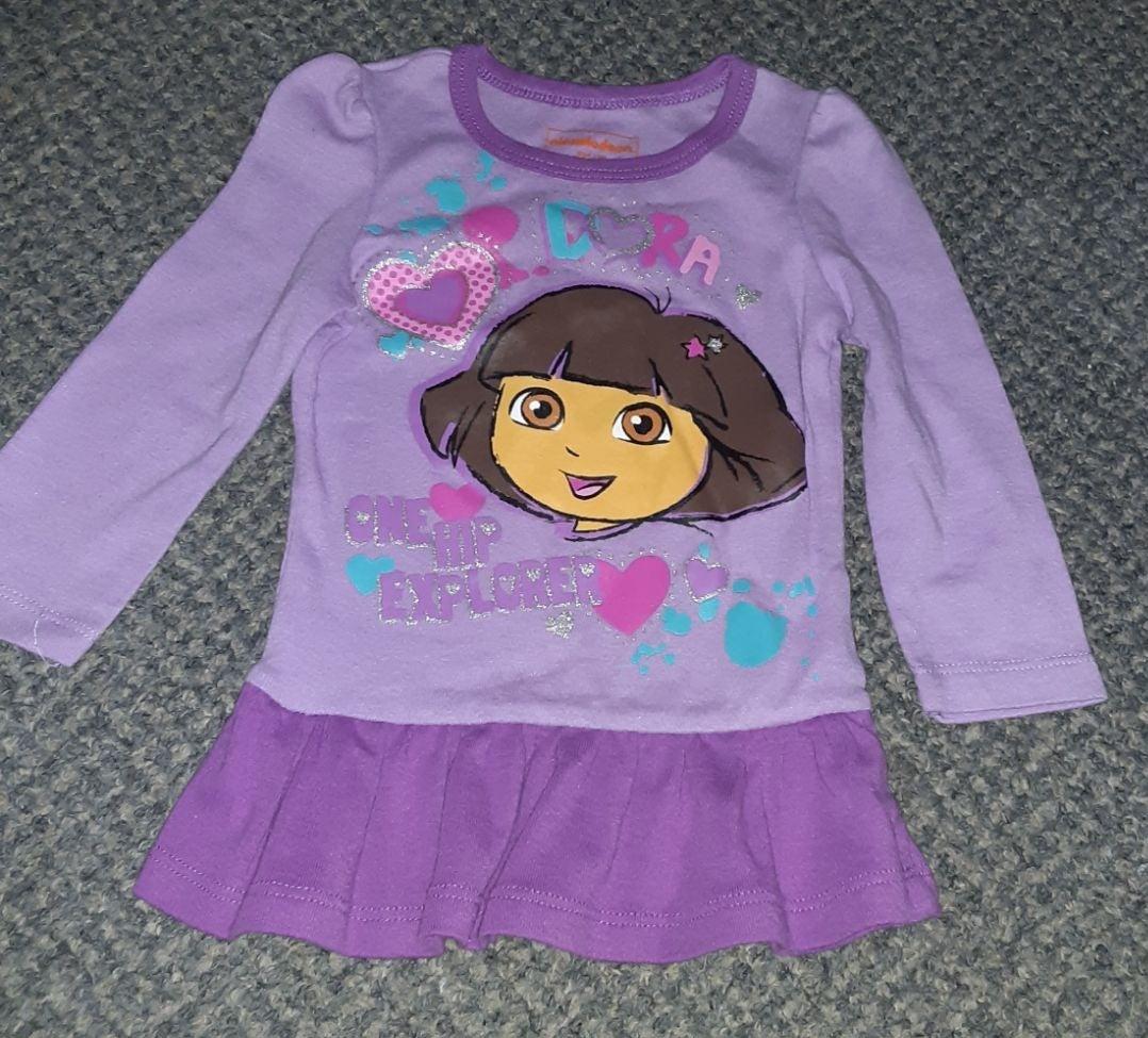 Dora explorer shirt girls sz 12 mths