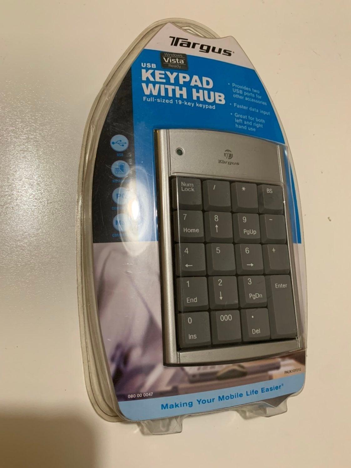 Targus Numeric USB Keypad PAUK10Y01U wit