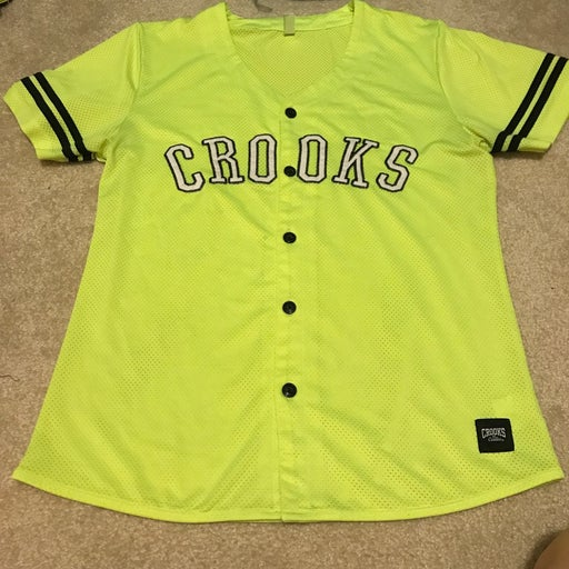 Crooks & Castles neon black jersey med
