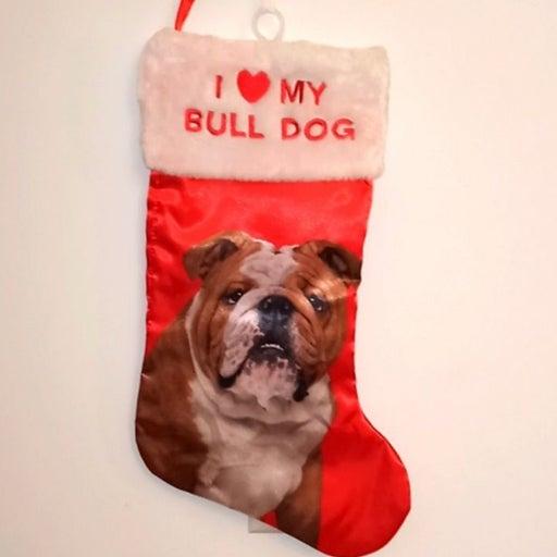 Pet Dog (Bull Dog) Christmas Stocking
