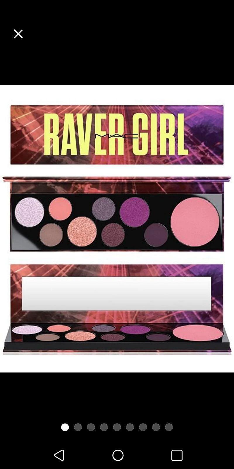 New Mac raver girl eyeshadow palette