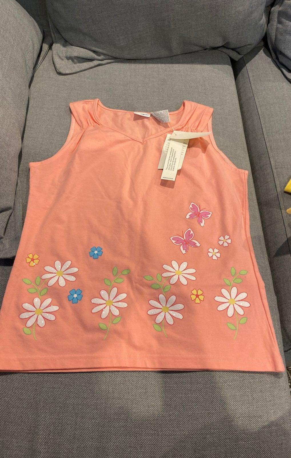 daisy flower and butterfly tank shirt
