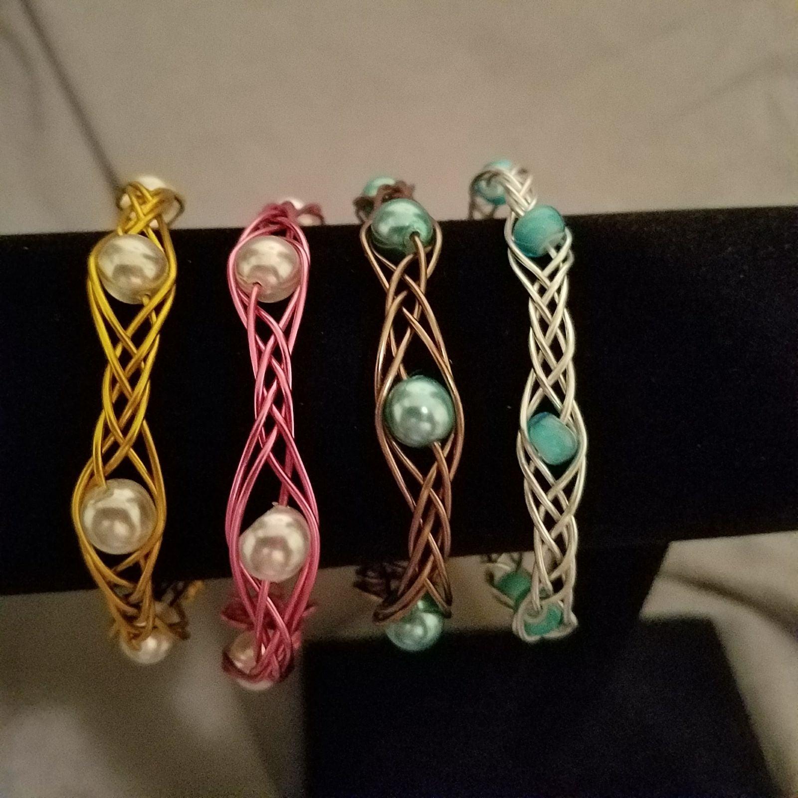 Celtic inspired woven bracelets