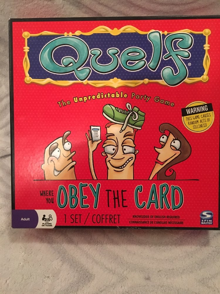 Quelf The Unpredictable Party Game. Comp