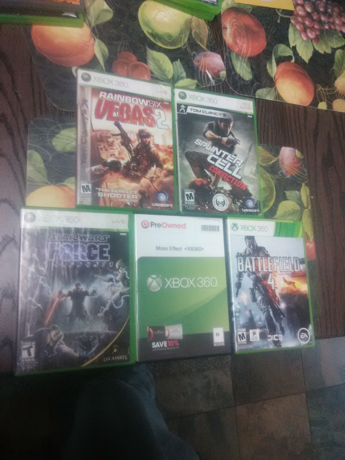 Lot Of 5 Xbox 360 Games