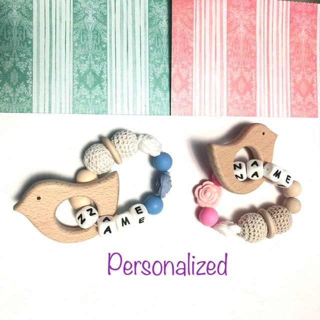 personalized baby teether
