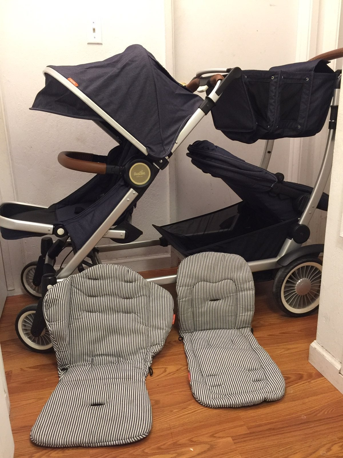 Austlen Double Stroller w/ accessories