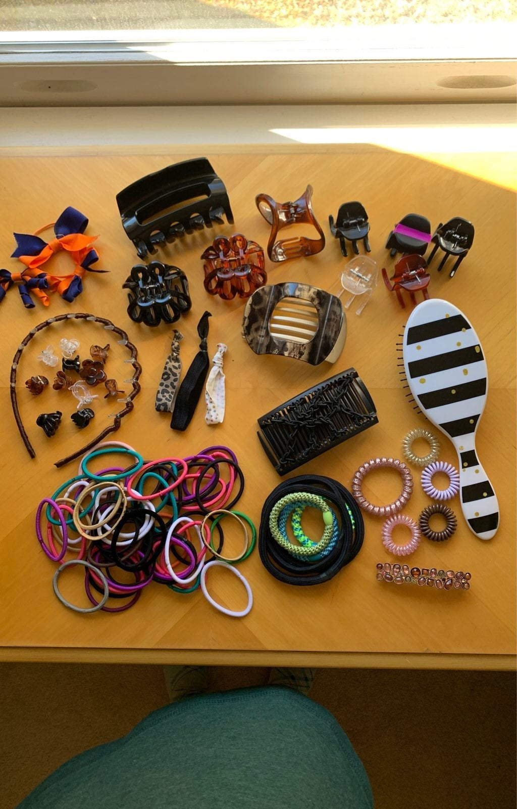 Hair accessories~ties, claw clips, bands