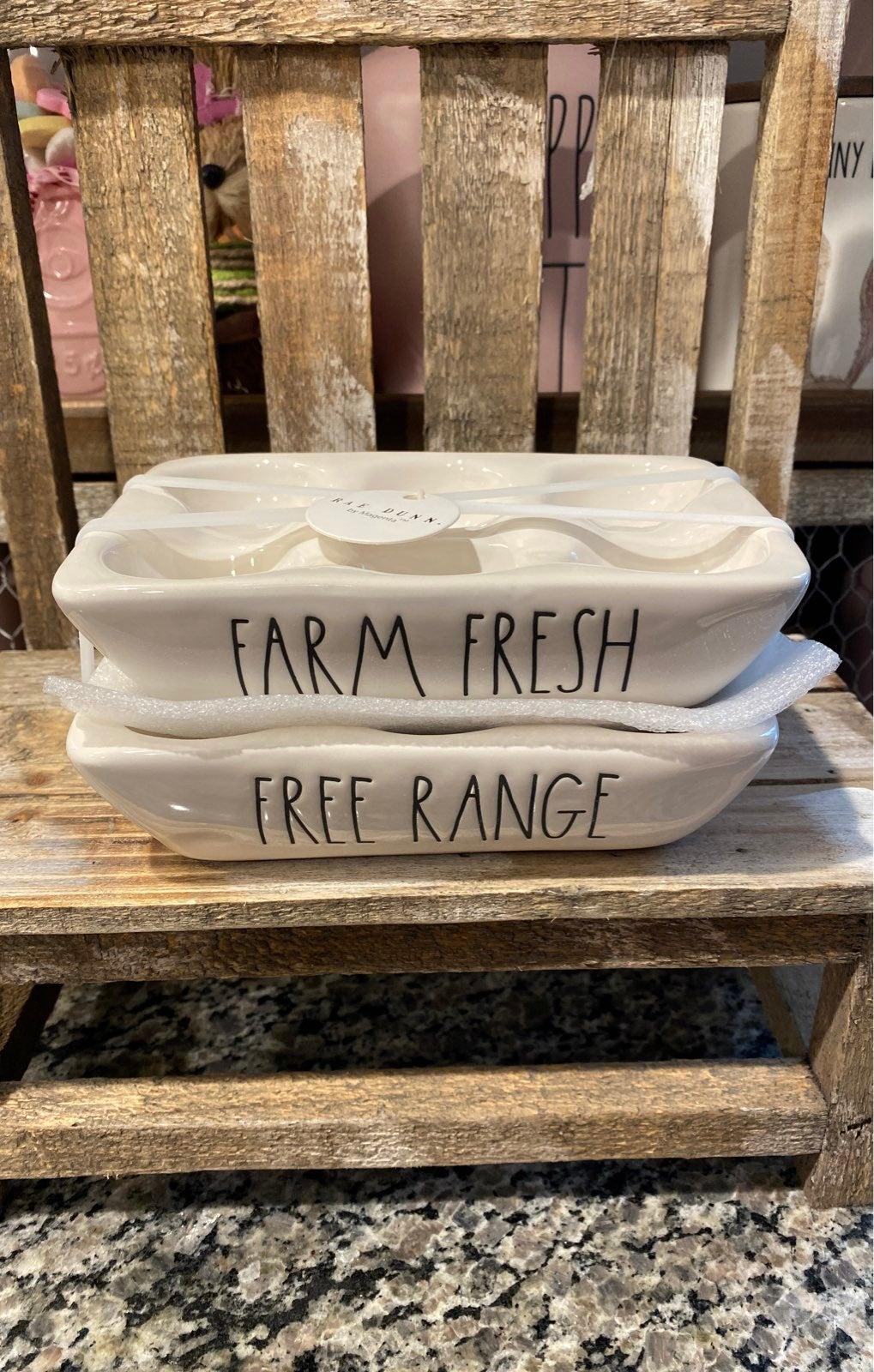 Rae Dunn Farm Fresh Egg holders